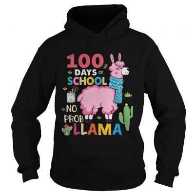 100 Days of school no probllama hoodie
