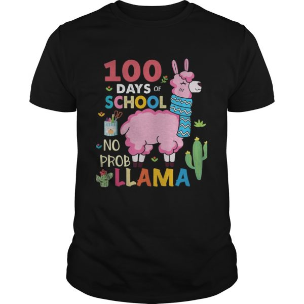 100 Days of school no probllama shirt