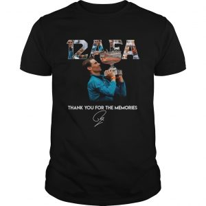 12 AFA Roland Garros thank you for the memories shirt
