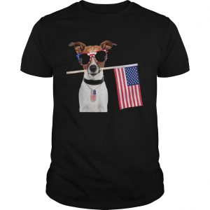4th Of July American Flag Jack Russel Terrier Dog Tags Shirt
