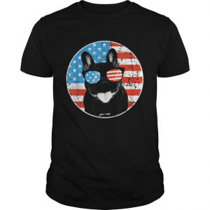 4th Of July Dog American Flag French Bulldog shirt