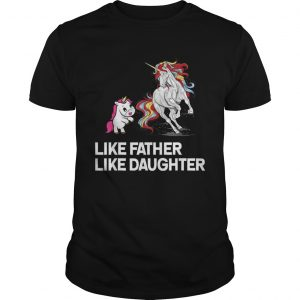 Dad Unicorn Father Daughter Fathers Day shirt