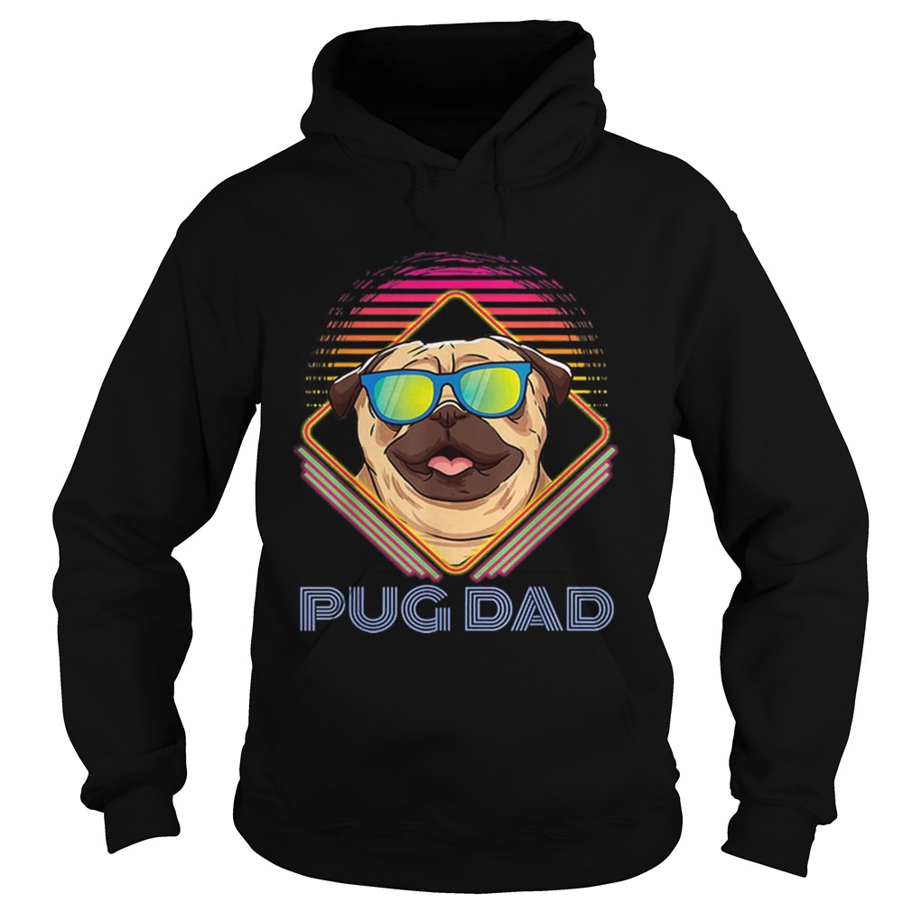 Pug Dad Father Day Vintage Hoodie