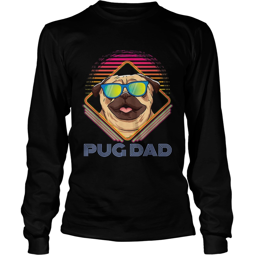 Pug Dad Father Day Vintage LongSleeve