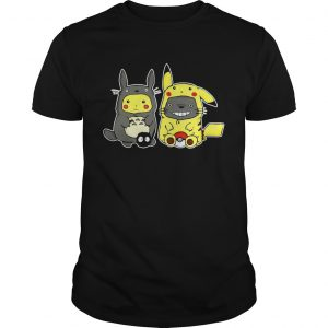 Totoro and Pikachu are best friends shirt