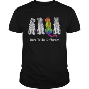 4 Tigers dare to be different LGBT shirt