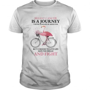 Flamingo breast cancer is a journey I never planned or asked for shirt