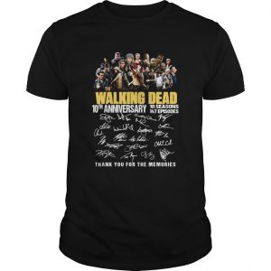 10th Anniversary Walking Dead thank you for the memories  Unisex
