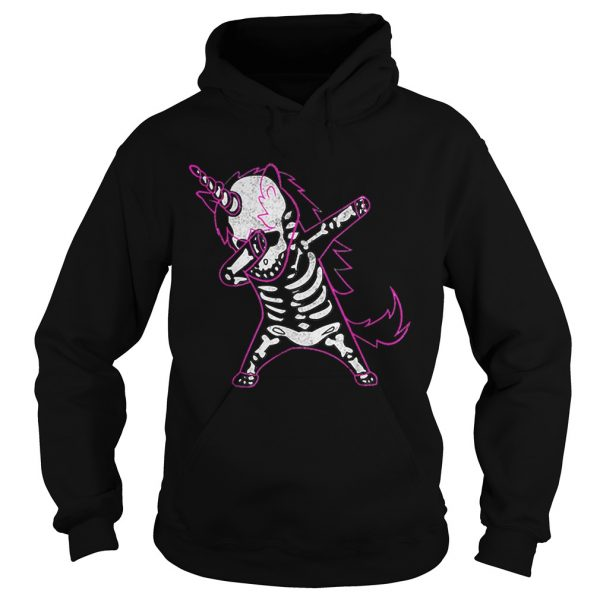 Dabbing Unicorn Skeleton Halloween Costume Men Women Gift  Hoodie