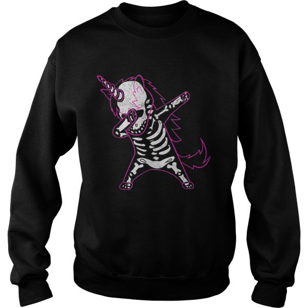 Dabbing Unicorn Skeleton Halloween Costume Men Women Gift  Sweatshirt