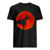 Doberman Dog Lover Red Moon Halloween  Classic Men's T-shirt