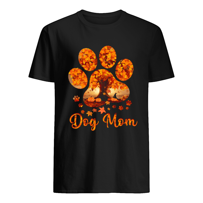 Dog Mom Autumn Leaves Halloween T-Shirt Classic Men's T-shirt