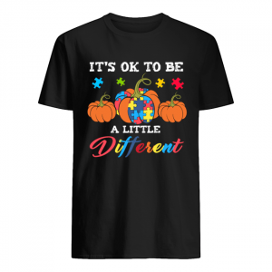 Halloween Autism Pumpkin It's OK to be a little different T-Shirt Classic Men's T-shirt
