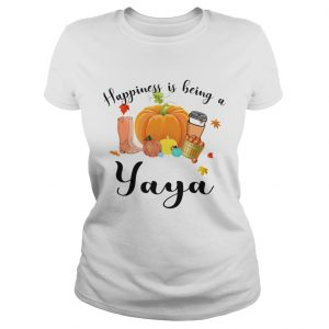 Halloween Pumpkin Happiness Is Being A Yaya TShirt Classic Ladies