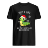 Just A Girl Who Loves Caterpillars And Christmas Shirt Classic Men's T-shirt