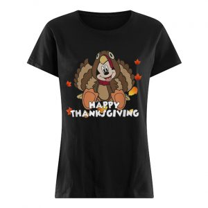 Mickey Mouse happy thanksgiving  Classic Women's T-shirt