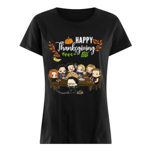 Avengers chibi characters happy thanksgiving  Classic Women's T-shirt