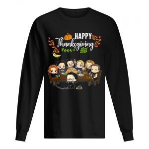 Avengers chibi characters happy thanksgiving  Long Sleeved T-shirt