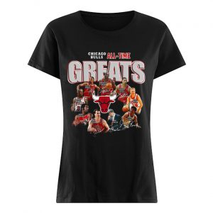 Chicago Bulls All Time Greats Signatures  Classic Women's T-shirt