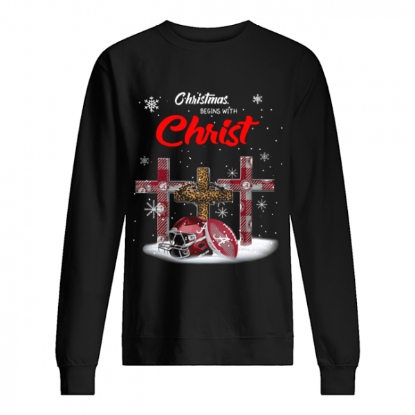 Christmas Begins With Alabama Crimson Tide  Unisex Sweatshirt