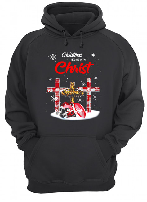 Christmas Begins With Christ Alabama Crimson Tide  Unisex Hoodie