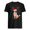 Christmas Lights Australian Shepherd Funny Dog Lovers Gift  Classic Men's T-shirt