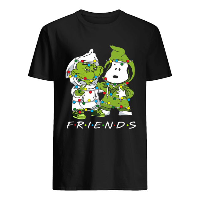 Friends Grinch and Snoopy light christmas  Classic Men's T-shirt