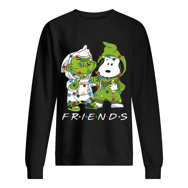 Friends Grinch and Snoopy light christmas  Unisex Sweatshirt