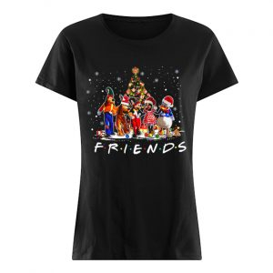 Friends Mickey Mouse characters christmas tree  Classic Women's T-shirt