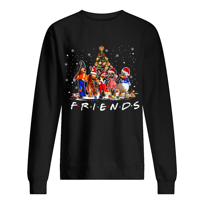 Friends Mickey Mouse characters christmas tree  Unisex Sweatshirt