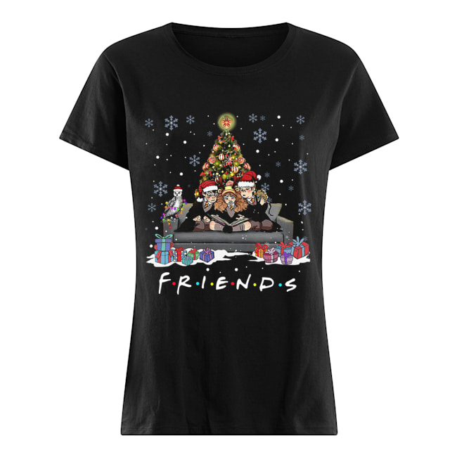 Friends Tv Show Harry Potter christmas tree Classic Women's T-shirt