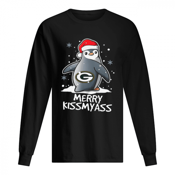 Green Bay Packers Penguin Merry Kissmyass  Long Sleeved T-shirt