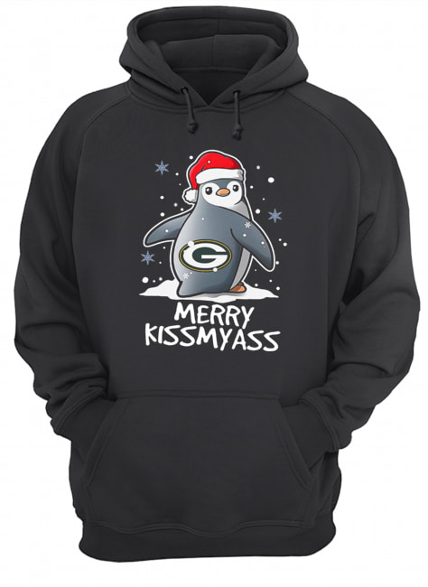 Green Bay Packers Penguin Merry Kissmyass  Unisex Hoodie