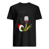 Grinch Hand Holding Glass of Wine  Classic Men's T-shirt