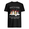 Just A Girl Who Love Bunnies And Christmas  Classic Men's T-shirt