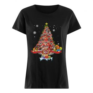 Kansas City Chiefs Players Signatures Christmas Tree  Classic Women's T-shirt