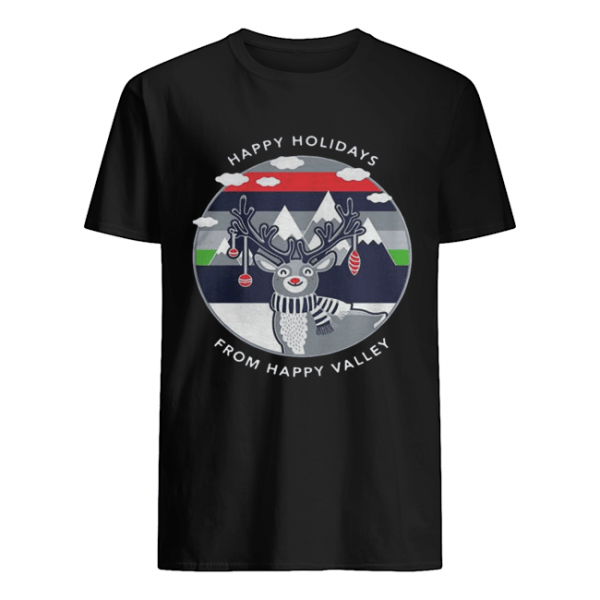 Penn State Happy Holidays From Happy Valley Reindeer Christmas  Classic Men's T-shirt