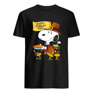 Snoopy And Woodstocks Happy Turkey Day  Classic Men's T-shirt