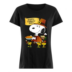 Snoopy And Woodstocks Happy Turkey Day  Classic Women's T-shirt