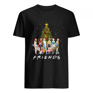 Stranger Things Characters Friends Christmas Tree  Classic Men's T-shirt