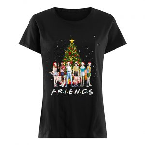 Stranger Things Characters Friends Christmas Tree  Classic Women's T-shirt