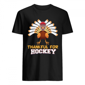 Thankful For Hockey Turkey Sport Love Thanksgiving Family  Classic Men's T-shirt