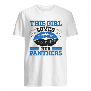 This Girl Loves Her Carolina Panthers Football Lips  Classic Men's T-shirt