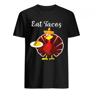 Turkey Eat Tacos Funny Mexican Sombrero Thanksgiving  Classic Men's T-shirt