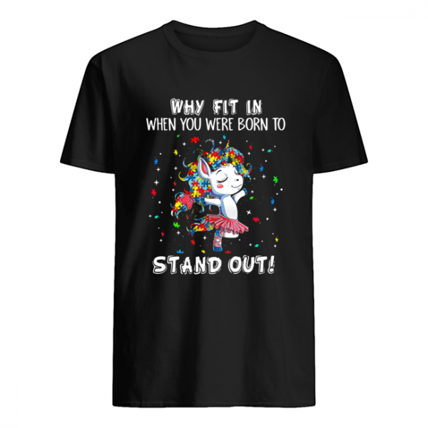 Unicorn Why Fit in When You were Born Stand Out Puzzle  Classic Men's T-shirt