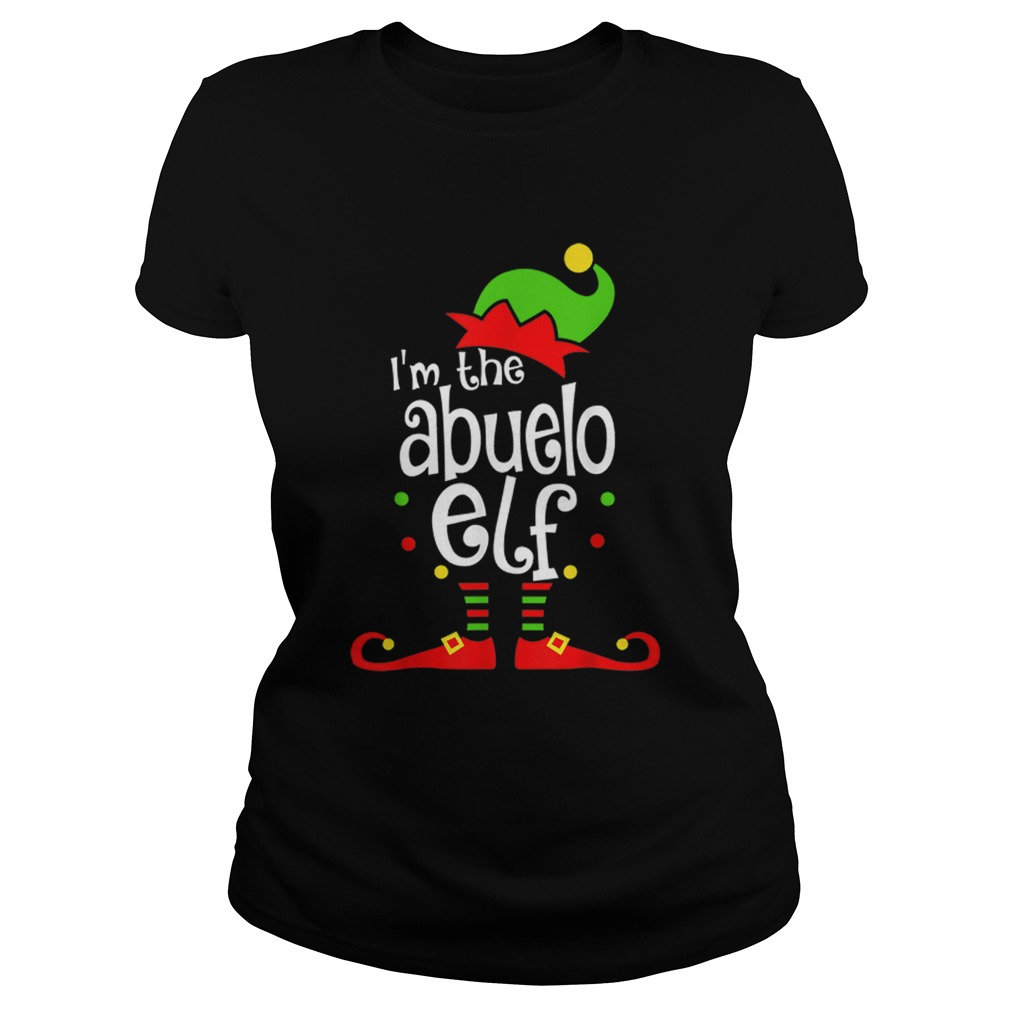 Abuelo Elf Christmas Spanish Grandpa Matching Family Xmas  Classic Ladies