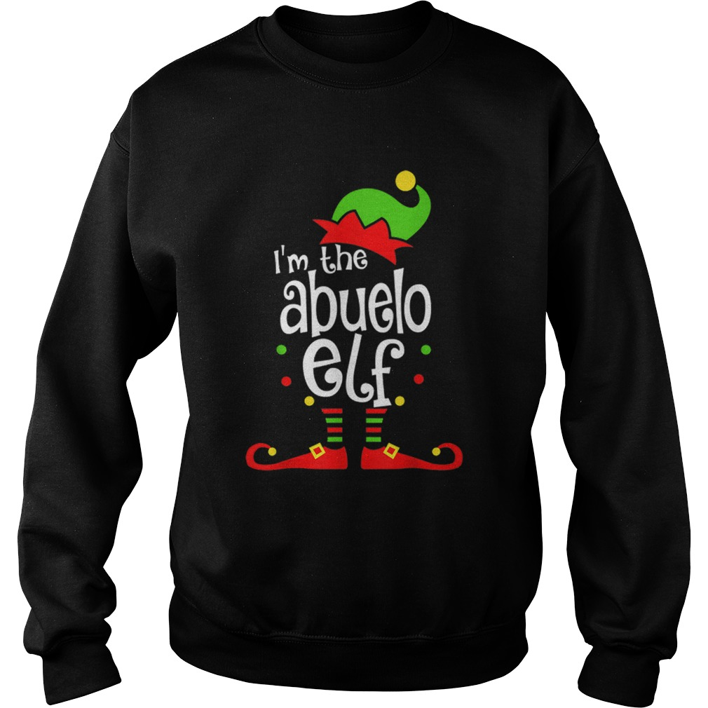 Abuelo Elf Christmas Spanish Grandpa Matching Family Xmas  Sweatshirt