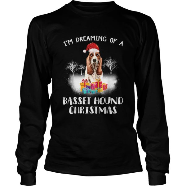 Dreaming Of A Basset Hound Christmas  LongSleeve
