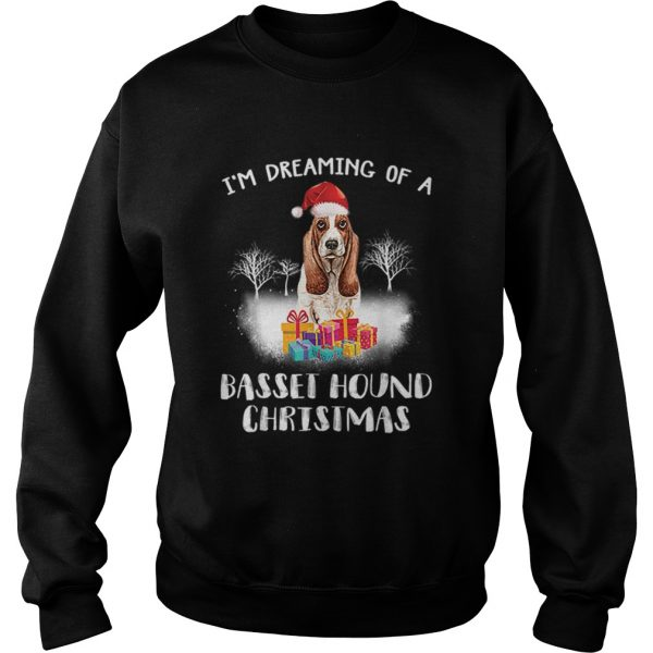 Dreaming Of A Basset Hound Christmas  Sweatshirt