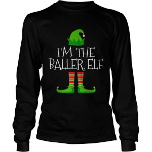 Im The Baller Elf Family Matching Christmas Pajama  LongSleeve